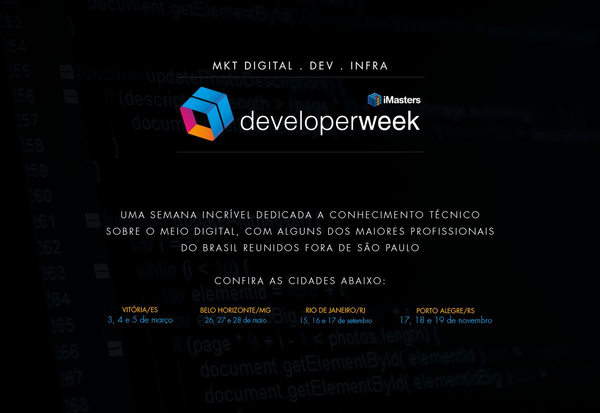 iMasters Developer Week Landing Page